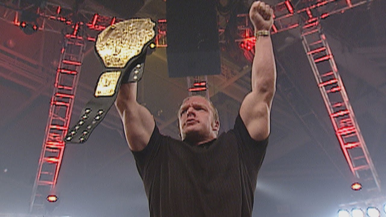 Eric Bischoff awards Triple H with the World Heavyweight Championship: Raw, Sept. 2, 2002