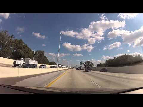 Drive from Clearwater to Tampa Florida Timelapse HD