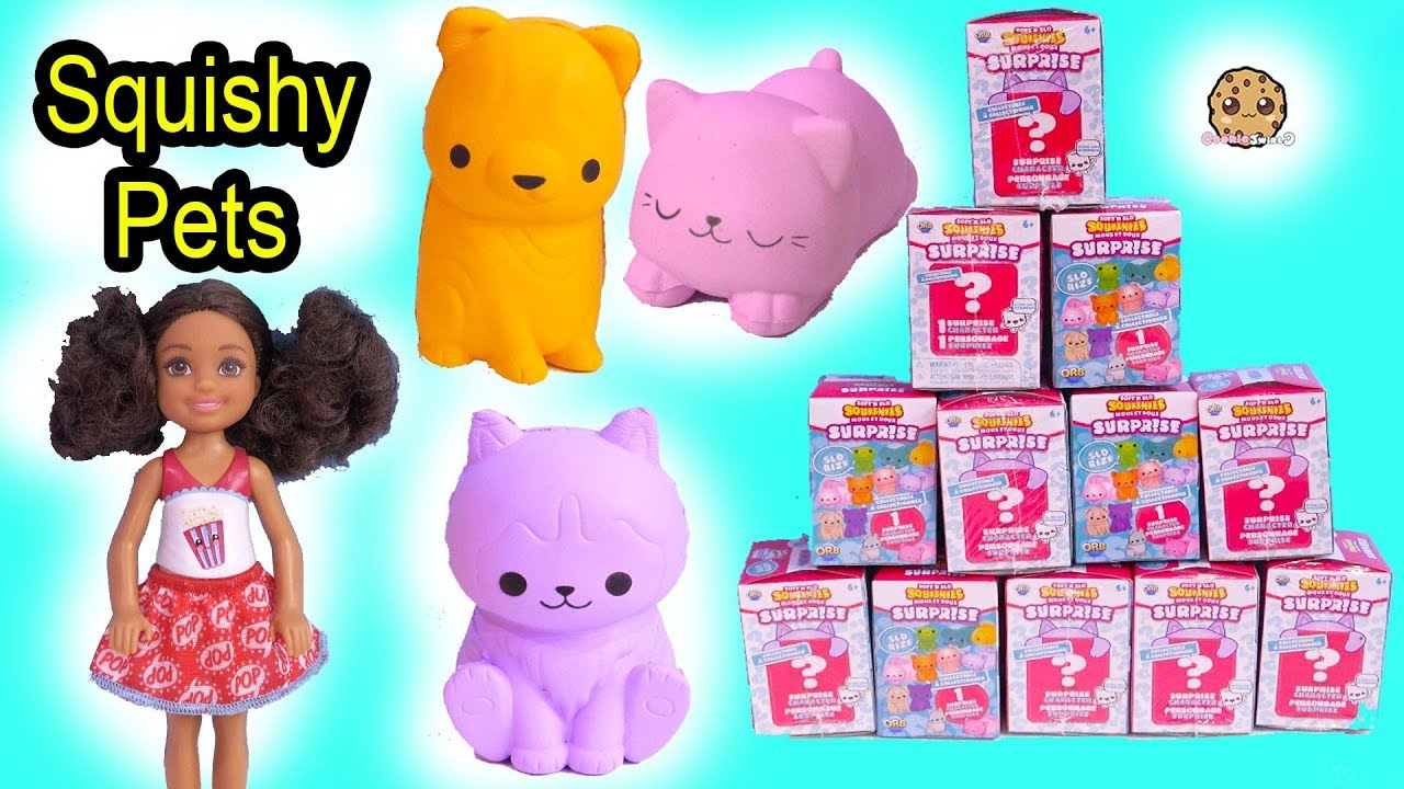 Squishy Surprise Animals - Barbie Kid Gets First Pet - Blind Bag Toy Video - YouTube