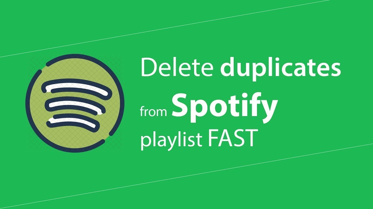 How to remove duplicate tracks from a Spotify Playlist