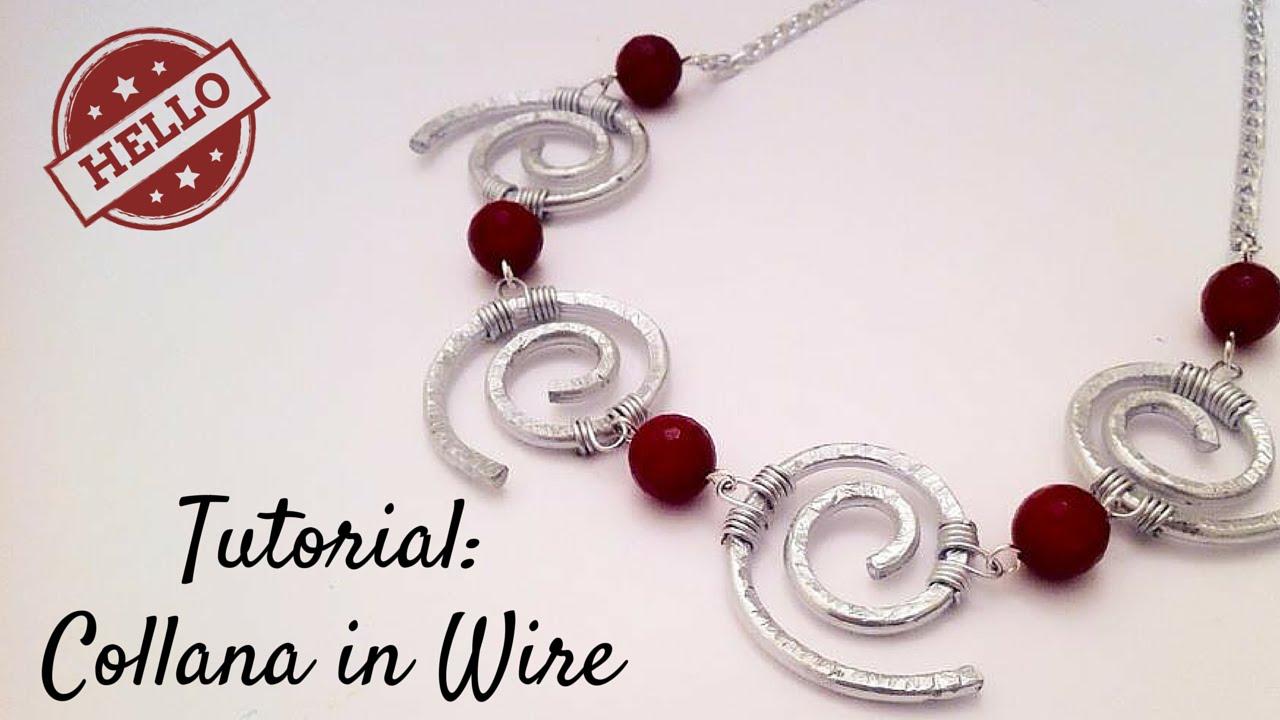 abbastanza Tutorial \ Wire Curls Necklace \ Collana in Wire \ Alluminio  BD49