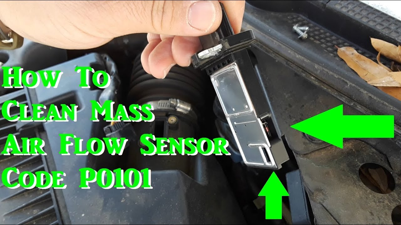 How to Clean the Mass Air Flow Sensor (Code P0101 on Nissan Altima) -  YouTubeYouTube