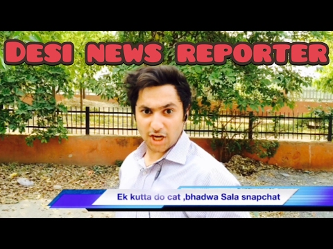 Desi News Reporter || Harsh Beniwal