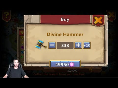 Thunder Gods Gift 333 Total Hammers Skeletica Challenge Castle Clash
