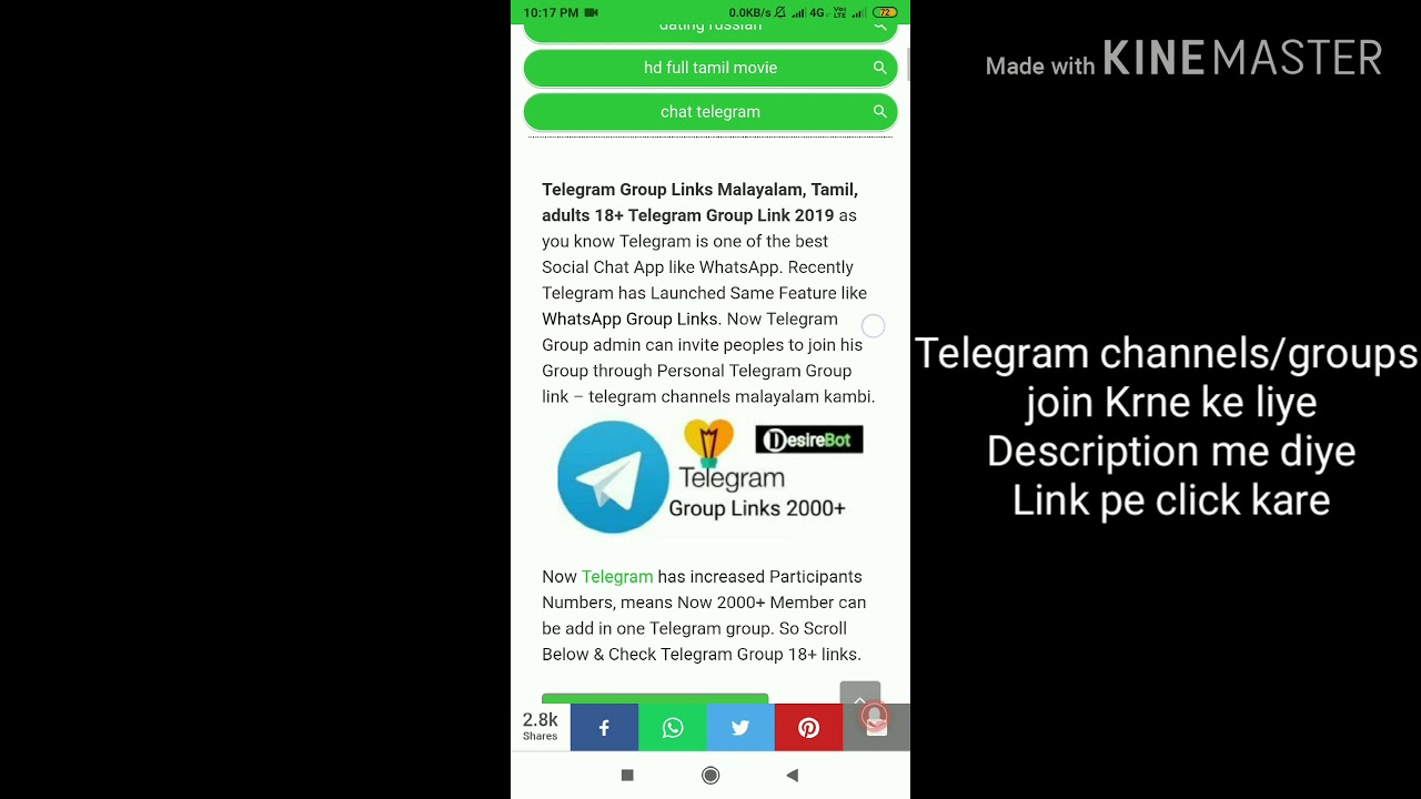 Telegram Group Links Malayalam, Tamil - Mallu telugu movies Group Links
