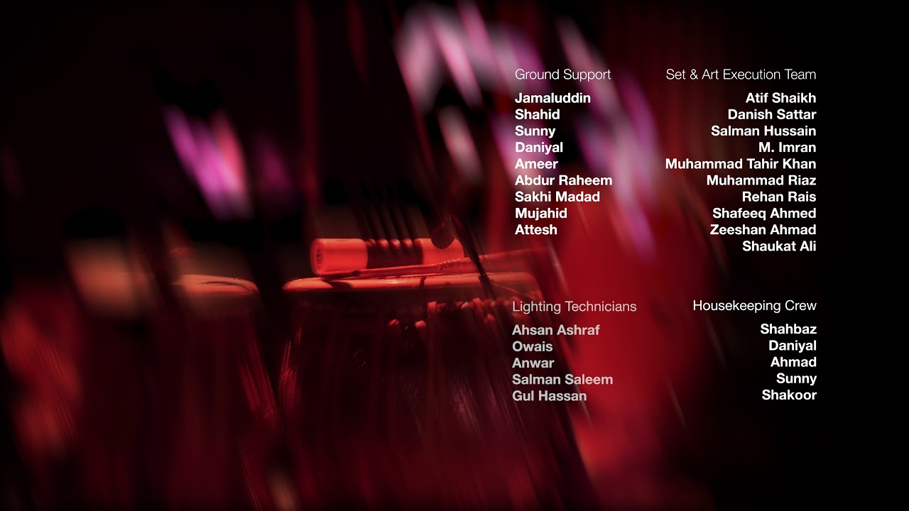 Coke Studio Season 11, Episode 4 - Gulistan, End Credits
