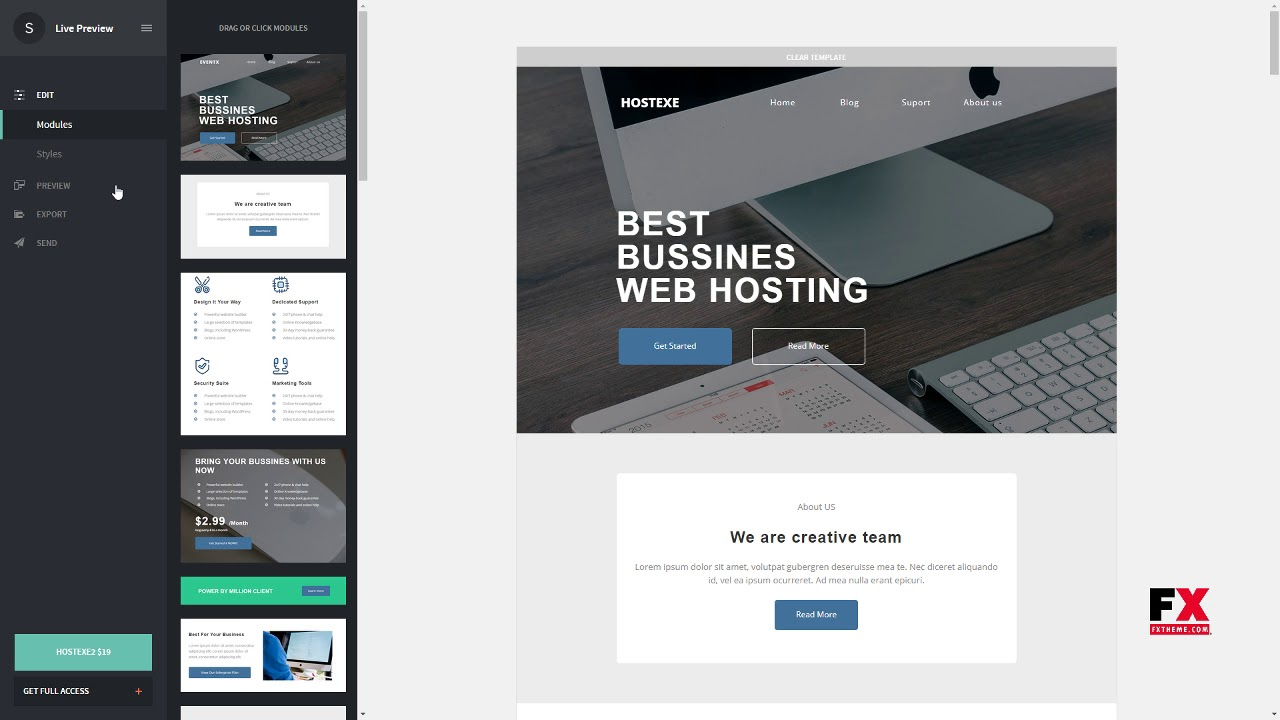 Hostx - Hosting Responsive Email Template + StampReady Builder - YouTube