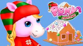 Fun Pony Care Kids Games - Pony Sisters Christmas