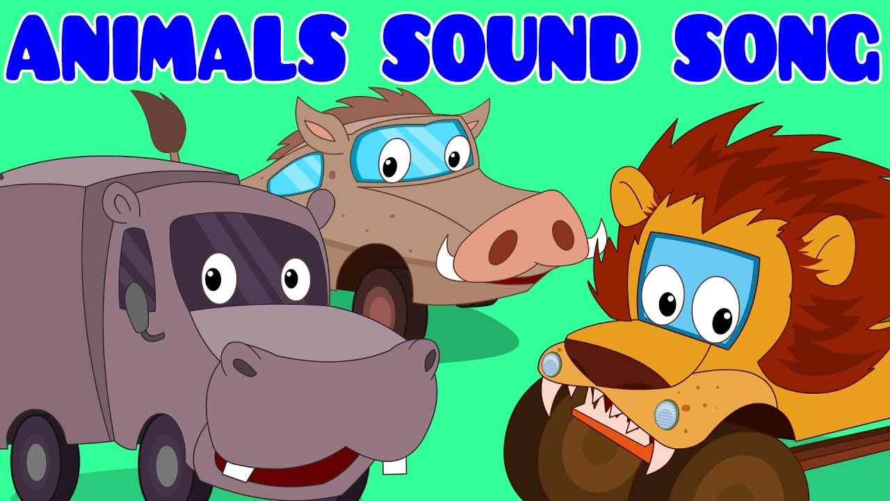 animals sound song car rhyme songs for kids youtube