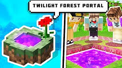 HOW TO MAKE A PORTAL TO TWILIGHT FOREST IN MINECRAFT | @Finestly on @Gaming Tak