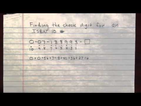 ISBN number check digit # 2