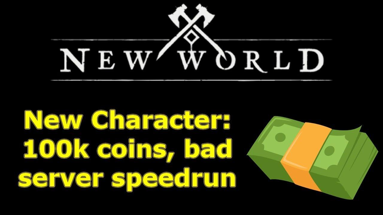 100k New World coins challenge: factionless bad server speedrun part 2