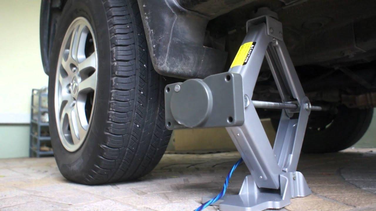 Design of bottle car jack - Electric Jack Impact Wrench Test 1
