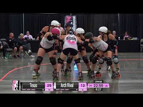 2017 International WFTDA Playoffs: Dallas - Game 12: Texas Rollergirls vs Arch Rival Roller Derby