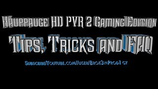 Hauppauge HD PVR 2 Gaming Edition: Best Recording Settings + Free Streaming Software(STREAMEeZ)