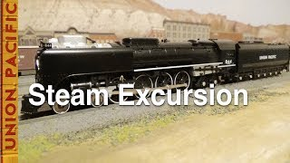 N-Scale Steam Excursion Train