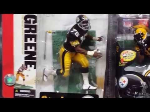 2014 Mean Joe Greene & James Harrison Pittsburgh Steelers