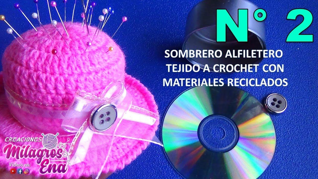 Como hacer un sombrero alfiletero con lata y cd reciclados for Como construir piletas de material