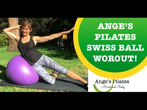 Ange's Pilates Intermediate Swiss Ball Workout