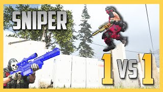 We started with 64 Snipers - but there can ONLY BE ONE! Sniper 1v1's!