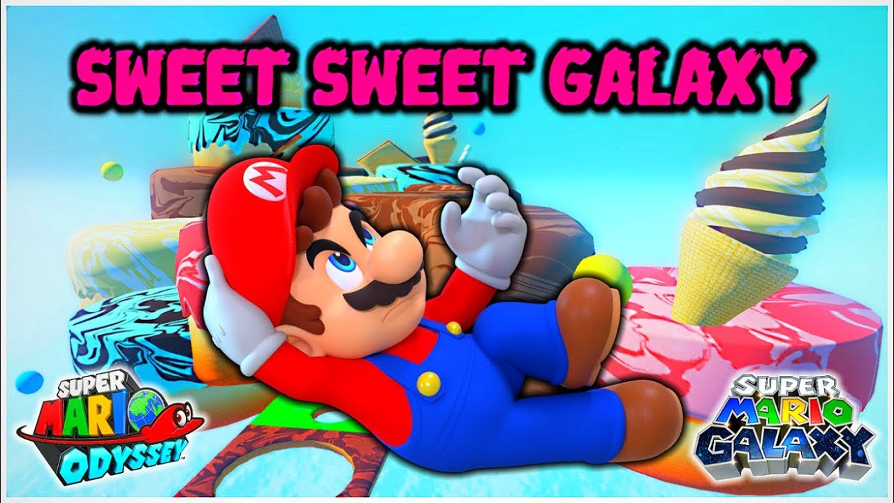 SWEET SWEET GALAXY from Super Mario Galaxy in Super Mario Odyssey