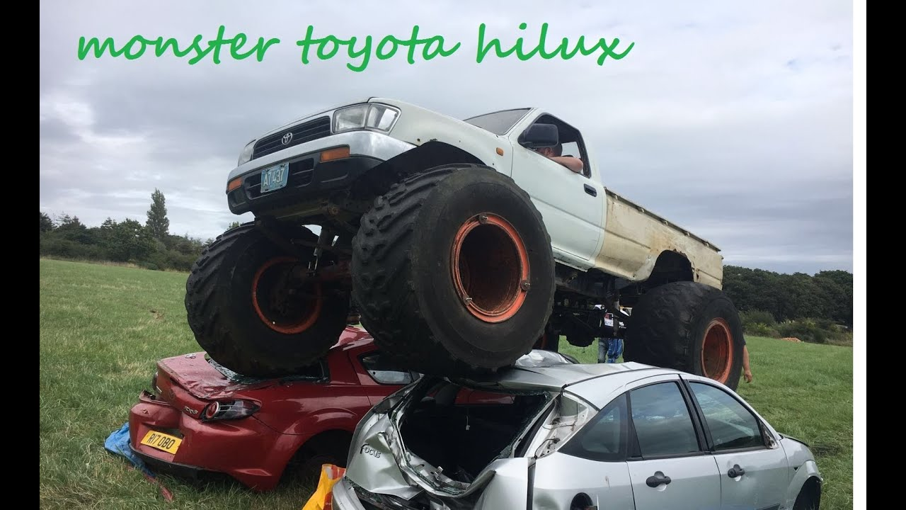 Toyota Hilux Monster Truck Crushing Cars Youtube