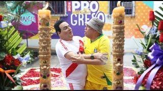 Claudio y el profesor Autori se reencuentran en la procesión del Wasap de JB thumbnail