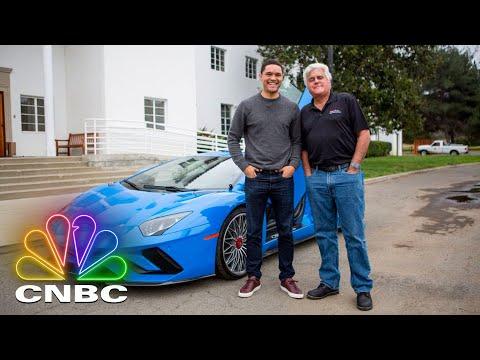 Trevor Noah And Jay Leno Drive A Lamborghini Aventador S | CNBC Prime