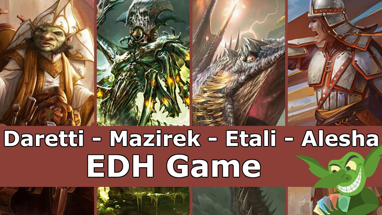 Daretti vs Mazirek vs Etali vs Alesha EDH / CMDR game play for Magic: The Gathering