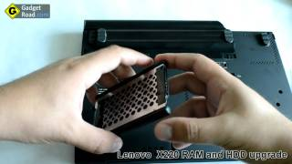 Lenovo Thinkpad X220 - How to upgrade RAM and the hard drive