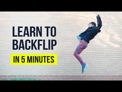 How To Backflip On Ground In 5 Minutes | Tutorial