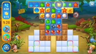 Fishdom level 458 Gameplay (iOS Android)