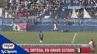 Emanuel Ortega sufrió un duro golpe en la cabeza en San Martín-Juventud Unida
