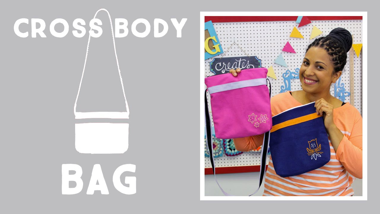 2b8b3c8aaa7ad2 Cross Body Bag With Embroidery: Easy Craft Project with Vanessa of Crafty  Gemini Creates - YouTube