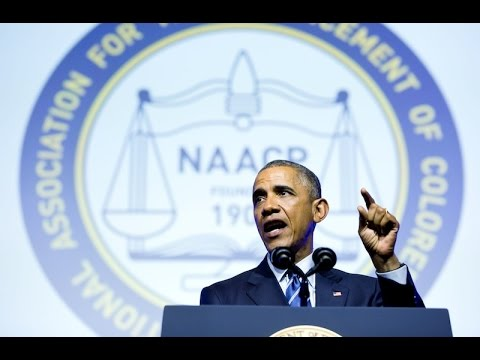 President Obama Addresses the NAACP