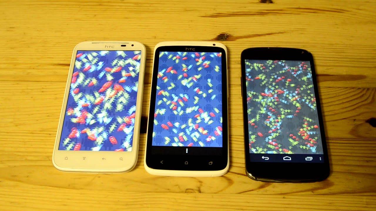 Google Nexus 4 VS HTC One X and Sensation XL Antutu
