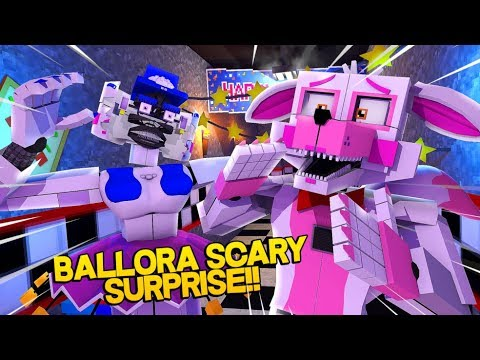 Minecraft Fnaf: Sister Location - Ballora Scary Surprise (Minecraft Roleplay)