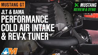 2015-2017 Mustang GT JLT Performance Cold Air Intake & Bama Rev-X Tuner Review & Dyno Test