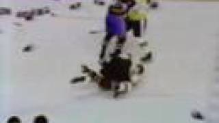 Montreal Canadiens at Boston Bruins bench clearing brawl 1970 November 8th
