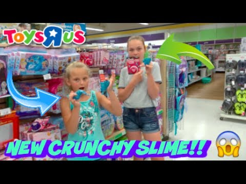 new crunchy slime at toys r us vlog youtube. Black Bedroom Furniture Sets. Home Design Ideas
