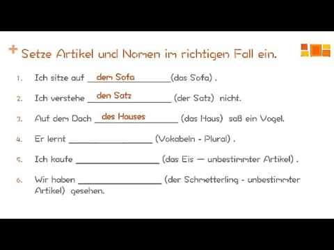 Learning German - Articles and Prepositions