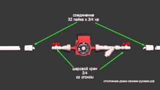Подключение циркуляционного насоса к полипропилену