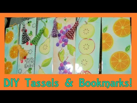 DIY Bakers Twine Tassel Bookmarks!