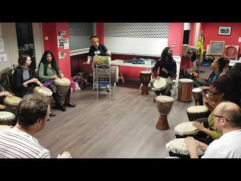 Mbilla Arts West African Drumming circle Walthamstow 2018