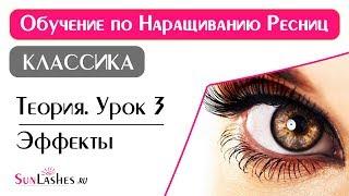Наращивание ресниц Обучение Теория Урок #3. Моделирование идеальной формы глаз. Эффекты.