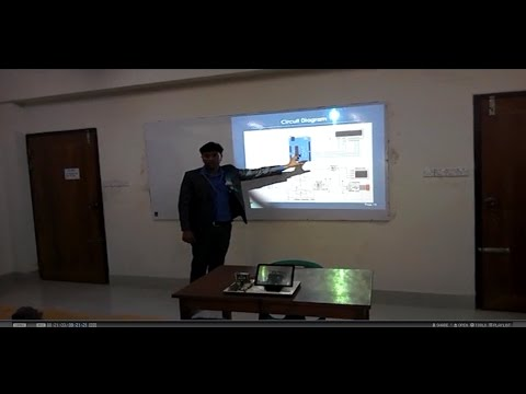 Project presentation Wireless electronic noticeboard using Bluetooth and PC.