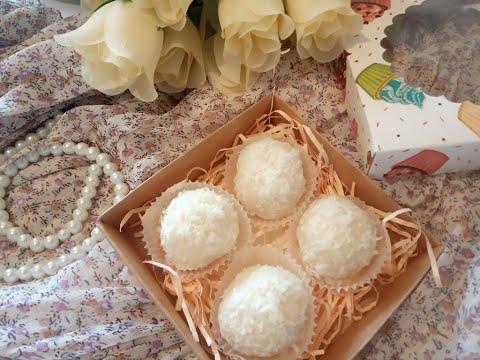 """Сыроедческие кокосовы конфеты БЕЗ САХАРА (""""рафаэлло"""")"""