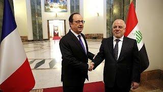 Fransa Cumhurbaşkanı Hollande'un Irak ziyaretine IŞİD'den bombalı karşılama