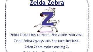 Alphafriends: Zelda Zebra
