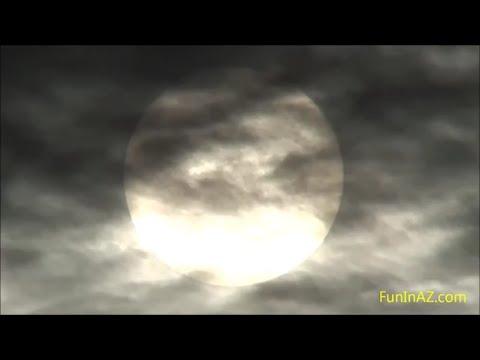 UNUSUAL SUNSET UNIQUE CLOUD FORMATION - Strange Desert Weather